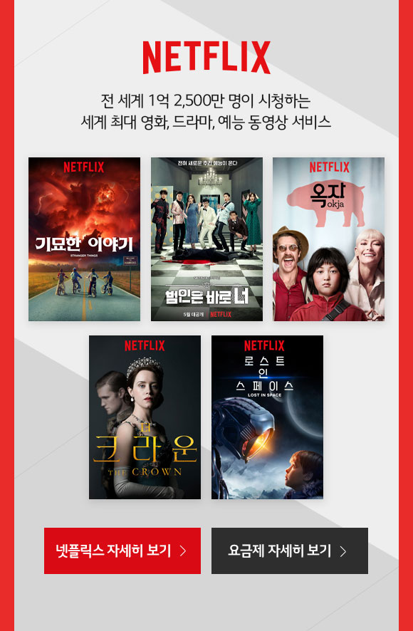 NETFLIX 전 세계 1억 2,500만 명이 시청하는 세계 최대 영화, 드라마, 예능 동영상 서비스
