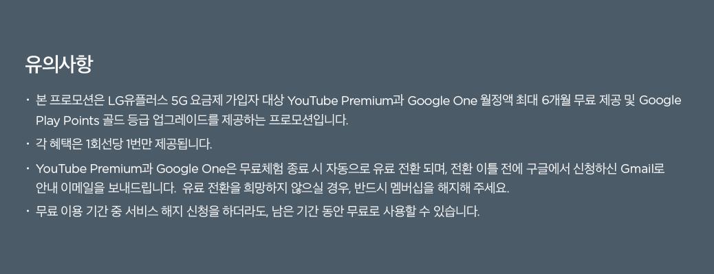 Best of Google 5G 프로모션