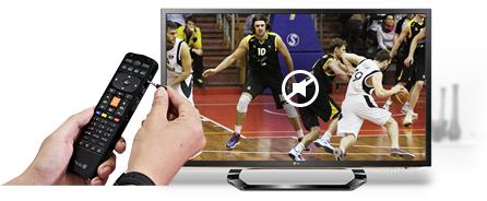 리모컨에 이어폰을 연결하면 자동으로 TV 사운드가 음소거로 전환되어 TV사운드를 이어폰으로 혼자 들을 수 있는 서비스