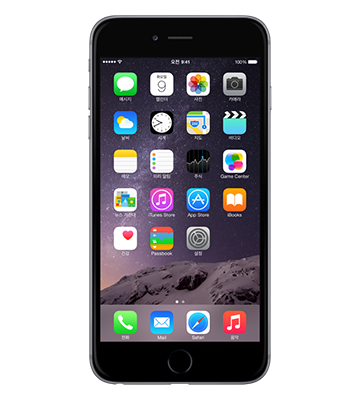 iPhone 6 Space Gray 색상 전면