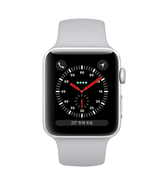 Apple Watch 3 LTE(42mm) 실버 전면